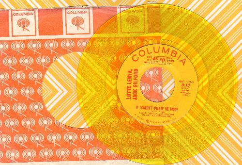 Lenya, Lotte & Jack Gilford - It Couldn't Please Me More/Married (RARE Yellow Vinyl Pressing with vintage Columbia company sleeve)  - NM9/ - 45 rpm Records