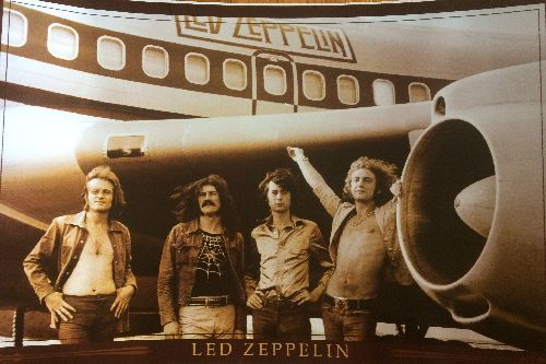 Led Zeppelin - Large Led Zeppelin Poster - 36 x 24 inches, NICE condition. Shipped separately. NOT shipped outside of USA! - NM9/ - Poster