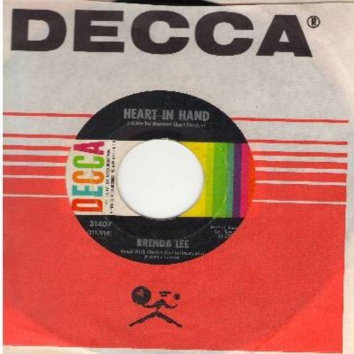 Lee, Brenda - Heart In Hand/It Started All Over (with Decca company sleeve) - NM9/ - 45 rpm Records