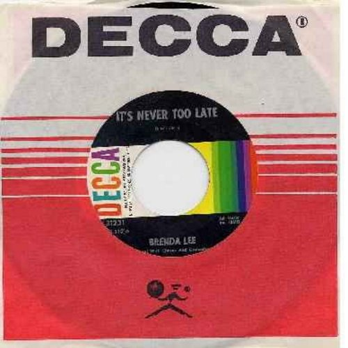 Lee, Brenda - You Can Depend On Me/It's Never Too Late (To Say I Love You) (with Decca company sleeve) - NM9/ - 45 rpm Records