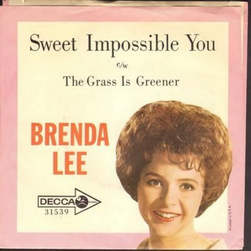 Lee, Brenda - Sweet Impossible You/The Grass Is Greener (Where You Are) (with picture sleeve) - NM9/EX8 - 45 rpm Records