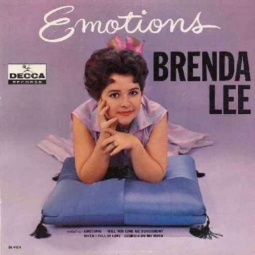 Lee, Brenda - Emotions: Will You Love Me Tomorrow?, When I Fall In Love, Georgia On My Mind, I'm Learning About Love, I'm In The Mood For Love (vinyl MONO LP record) - NM9/EX8 - LP Records