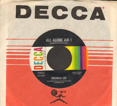 Lee, Brenda - All Alone Am I/Save All Your Lovin' For Me (with Decca company sleeve) - EX8/ - 45 rpm Records