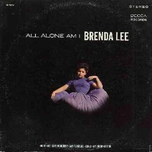 Lee, Brenda - All Alone Am I: I Left My Heart In San Francisco, My Prayer, Fly Me To The Moon, My Coloring Book, Come Rain Or Come Shine (vinyl STEREO LP record) - EX8/VG7 - LP Records
