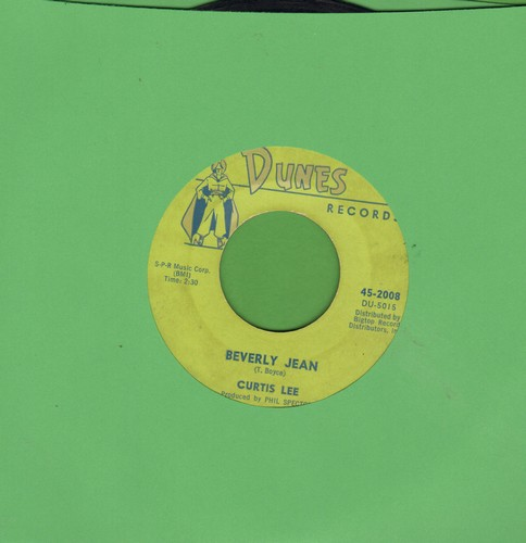Lee, Curtis - Beverly Jean/Under The Moon Of Love - VG7/ - 45 rpm Records