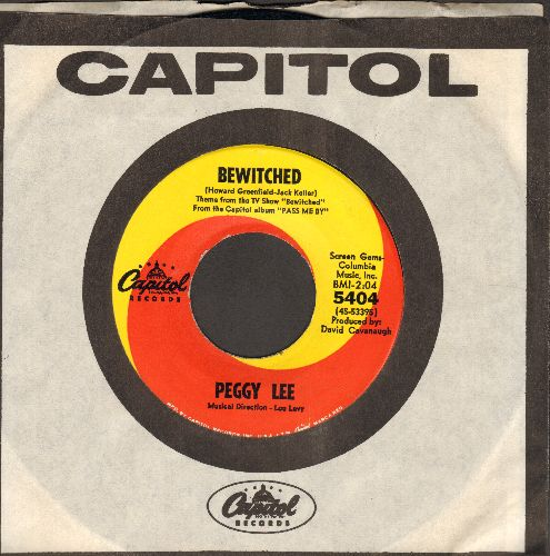 Lee, Peggy - Bewitched (ENCHANTING vocal version of the Classic TV Theme)/Sneakin' Up On You (MINT condition with vintage Capitol company sleeve) - NM9/ - 45 rpm Records