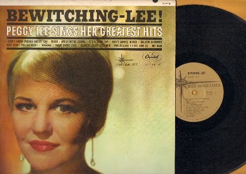 Lee, Peggy - Bewitching-Lee! - Peggy Lee Sings Her Greatest Hits: Fever, It's A Good Day, Why Don't You Do Right, Manana, My Man (vinyl MONO LP record, gold label 1970s re-issue) - NM9/NM9 - LP Records