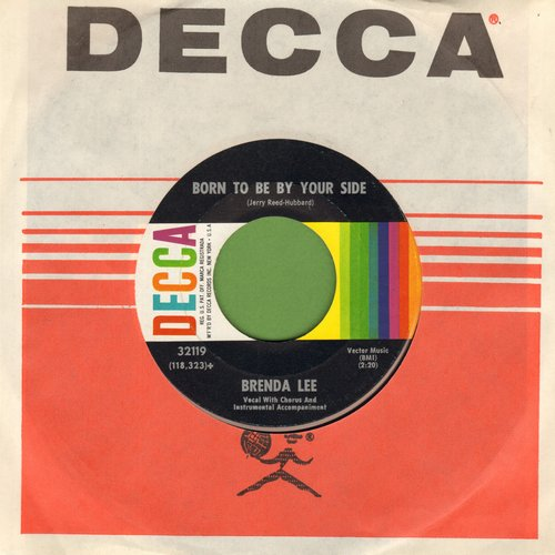 Lee, Brenda - Born To Be By Your Side/Take Me (with Decca company sleeve) - M10/ - 45 rpm Records