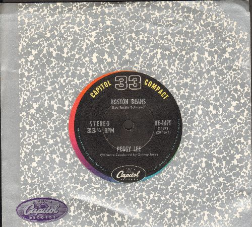 Lee, Peggy - Boston Beans/St. Louis Blues (7 inch 33rpm STEREO record, small spindle hole) - NM9/ - 45 rpm Records