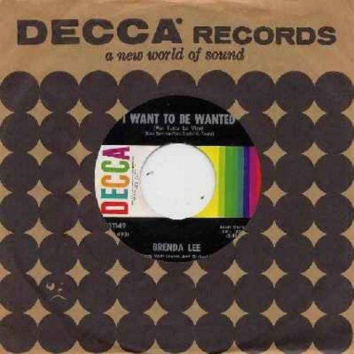 Lee, Brenda - I Want To Be Wanted (Per tutta la vita)/Just A Little (MINT conditon with Decca company sleeve) - M10/ - 45 rpm Records