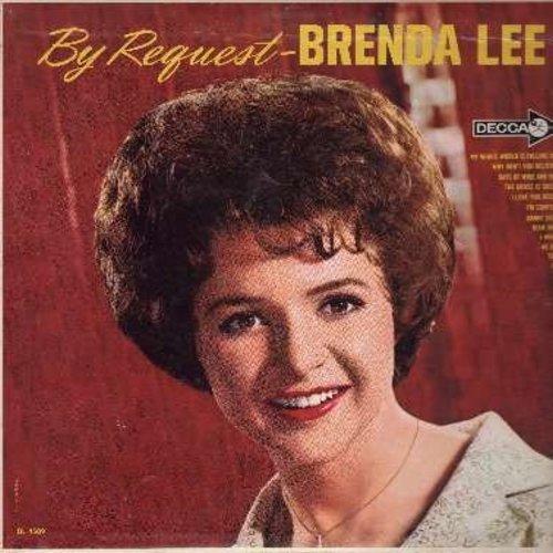 Lee, Brenda - By Request: Danke Schoen, More, Tammy, Blue Velvet, As Usual, I Wonder, The Grass Is Greener (vinyl MONO LP record) - EX8/VG7 - LP Records