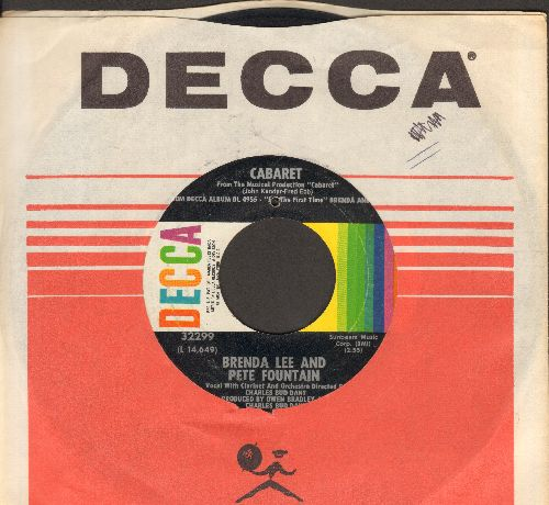 Lee, Brenda - Cabaret/Mood Indigo (with Decca company sleeve) (bb) - EX8/ - 45 rpm Records