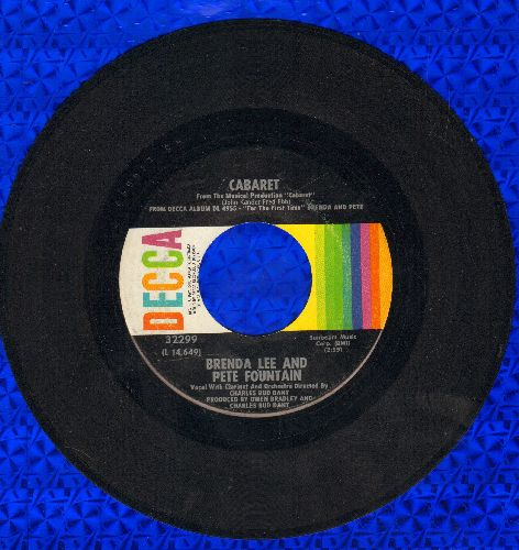 Lee, Brenda - Cabaret/Mood Indigo  - NM9/ - 45 rpm Records