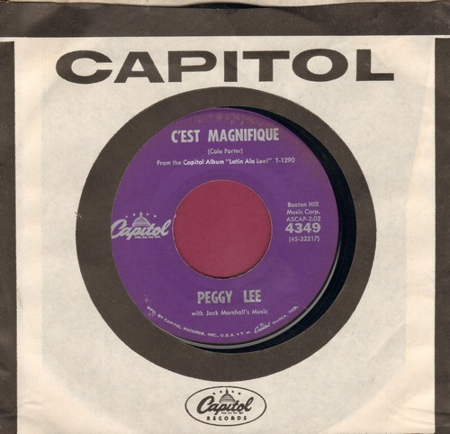 Lee, Peggy - C'est Magnifique/Heart (with vintage Capitol company sleeve) - EX8/ - 45 rpm Records