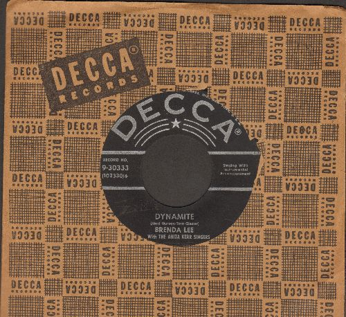 Lee, Brenda - Dynamite/Love You 'Till I Die (with Decca company sleeve) - VG7/ - 45 rpm Records