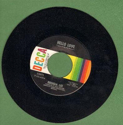 Lee, Brenda - Hello Love/I Think I Love You Again - NM9/ - 45 rpm Records