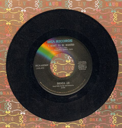 Lee, Brenda - I Want To Be Wanted/Sweet Nothin's (re-issue) - NM9/ - 45 rpm Records