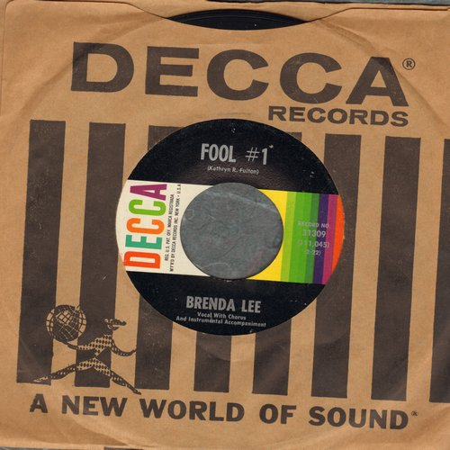 Lee, Brenda - Fool # 1/Anybody But Me (with Decca company sleeve, minor wol) - EX8/ - 45 rpm Records