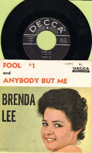 Lee, Brenda - Fool # 1/Anybody But Me (RARE black label early pressing with picture sleeve) - NM9/NM9 - 45 rpm Records