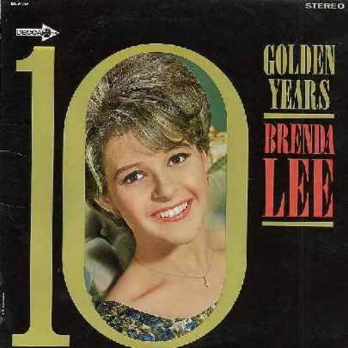 Lee, Brenda - 10 Golden Years: Jambalaya, Dynamite, Sweet Nothin's, I'm Sorry, All Alone Am I, Fool #1, Too Many Rivers (vinyl STERO LP record) - EX8/VG6 - LP Records