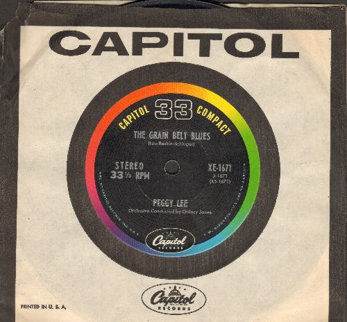 Lee, Peggy - The Grain Belt Blues/New York City Blues (7 inch 33rpm STEREO record, small spindle hole, with Capitol company sleeve) - NM9/ - 45 rpm Records