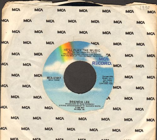 Lee, Brenda - He'll Play The Music (But You Can't Make Him Dance)/Every Now And Then (with MCA company sleeve) - VG7/ - 45 rpm Records