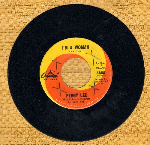 Lee, Peggy - I'm A Woman/Big Bad Bill (Is Sweet William Now) (wol) - NM9/ - 45 rpm Records