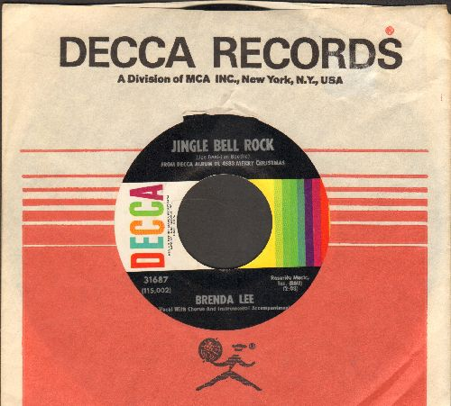 Lee, Brenda - Jingle Bell Rock/Winter Wonderland (MINT condition with Decca company sleeve) - M10/ - 45 rpm Records