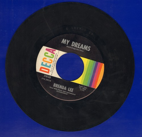 Lee, Brenda - My Dreams/Alone With You  - VG7/ - 45 rpm Records