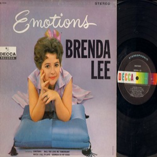Lee, Brenda - Emotions: Will You Love Me Tomorrow?, When I Fall In Love, Georgia On My Mind, I'm Learning About Love, I'm In The Mood For Love (vinyl STEREO LP record) - NM9/VG7 - LP Records