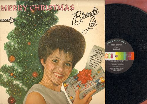 Lee, Brenda - Merry Christmas: Rockin' Around The Christmas Tree, Jingle Bell Rock, Frosty The Snowman, Christmas Will Be Just Another Lonely Day, Santa Claus Is Coming To Town (vinyl MONO LP record) - EX8/VG7 - LP Records