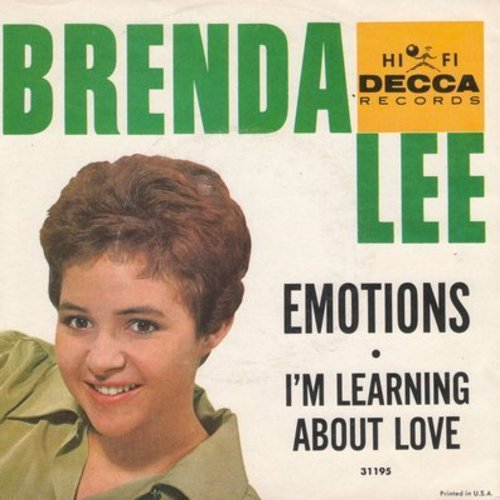 Lee, Brenda - Emotions/I'm Learnin' About Love (with picture sleeve) - NM9/VG7 - 45 rpm Records