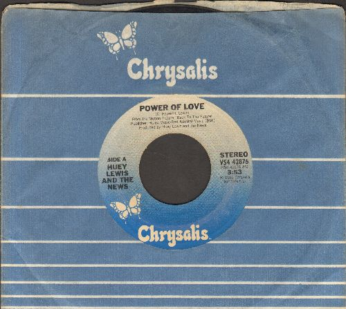 Lewis, Huey & The News - The Power Of Love (from film -Back To The Future-)/Bad Is Bad (with Chrysalis company sleeve) - VG7/ - 45 rpm Records