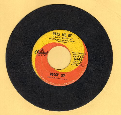 Lee, Peggy - Pass Me By/That's What It Takes  - EX8/ - 45 rpm Records