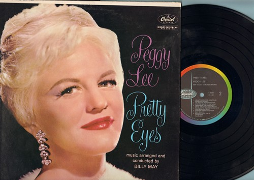 Lee, Peggy - Pretty Eyes, I Wanna Be Loved, Too Close For Comfort, You Fascinate Me So (vinyl MONO LP record, BEAUTIFUL cover portrait of Peggy Lee!) - NM9/VG6 - LP Records