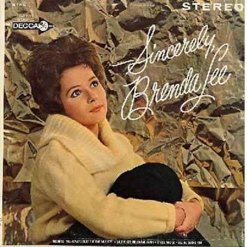 Lee, Brenda - Sincerely, Brenda Lee: How Deep Is The Ocean, Only You (And Only Me), I Miss You So, Send Me Some Lovin', You Always Hurt The One You Love, Lazy River (vinyl LP record) - VG7/EX8 - LP Records