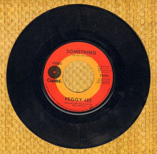 Lee, Peggy - Something/Whistle For Happiness - EX8/ - 45 rpm Records