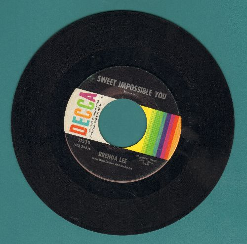 Lee, Brenda - Sweet Impossible You/The Grass Is Greener (Where You Are) - EX8/ - 45 rpm Records