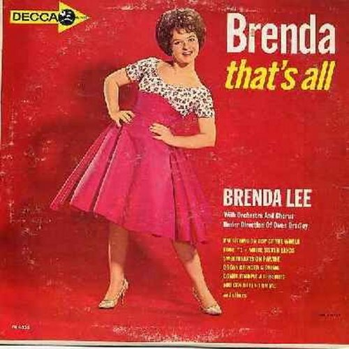 Lee, Brenda - That's All: Fool #1, You Can Depend On Me, Just Out Of Reach, Why Me?, Valley Of Tears, White Silver Sands (vinyl MONO LP record) - EX8/VG7 - LP Records