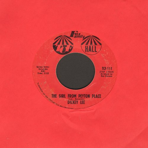 Lee, Dickey - The Girl From Payton Place/A Girl I Used To Know - EX8/ - 45 rpm Records