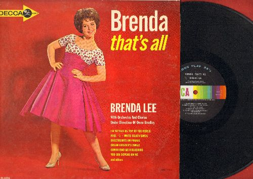 Lee, Brenda - That's All: Fool #1, You Can Depend On Me, Just Out Of Reach, Why Me?, Valley Of Tears, White Silver Sands (vinyl MONO LP record) - NM9/EX8 - LP Records