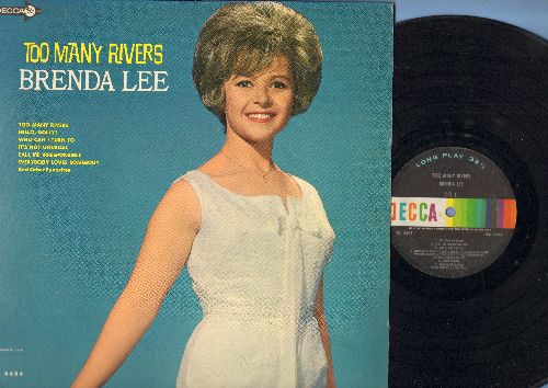 Lee, Brenda - Too Many Rivers: Hello Dolly!, It's Not Unusual, Everybody Loves Somebody, Stormy Weather, Think (vinyl MONO LP record) - VG7/EX8 - LP Records