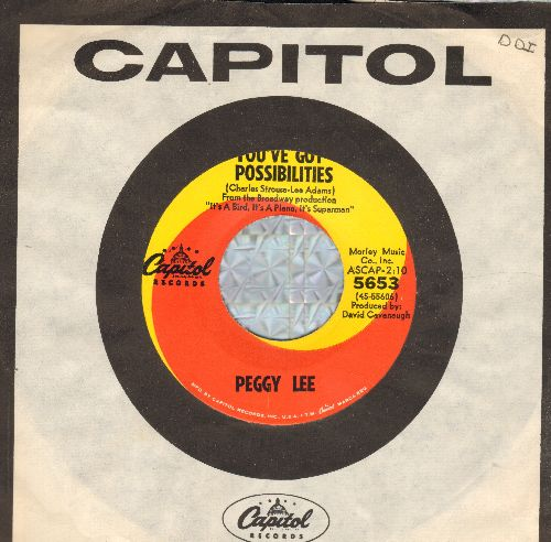 Lee, Peggy - You've Got Possiblilities/Come Back To Me (with Capitol company sleeve) (wos) - EX8/ - 45 rpm Records