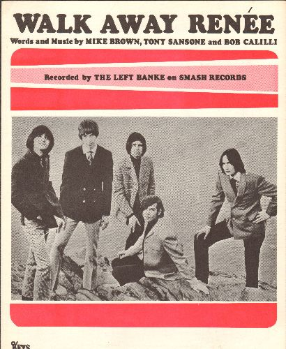 Left Banke - Walk Away Renee - Vintage SHEET MUSIC for the Hit by Left Banke, NICE condition! - NM9/ - Sheet Music