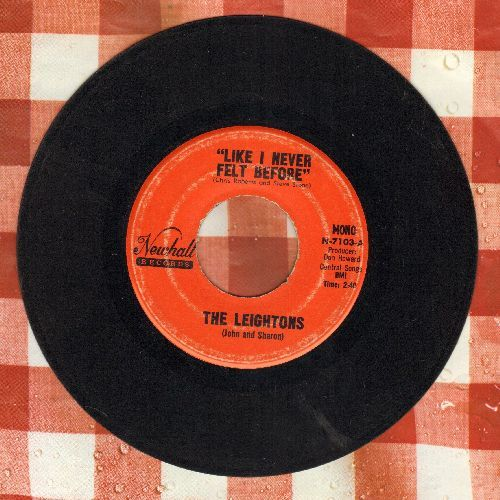 Leightons (John & Sharon) - Like I Never Felt Before/Love's Gonna Happen To Me - EX8/ - 45 rpm Records