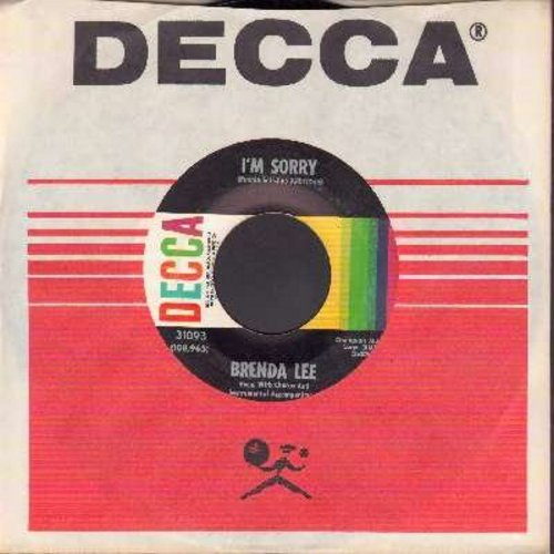 Lee, Brenda - I'm Sorry (So Sorry)/That's All You Gotta Do (with Decca company sleeve) - VG7/ - 45 rpm Records