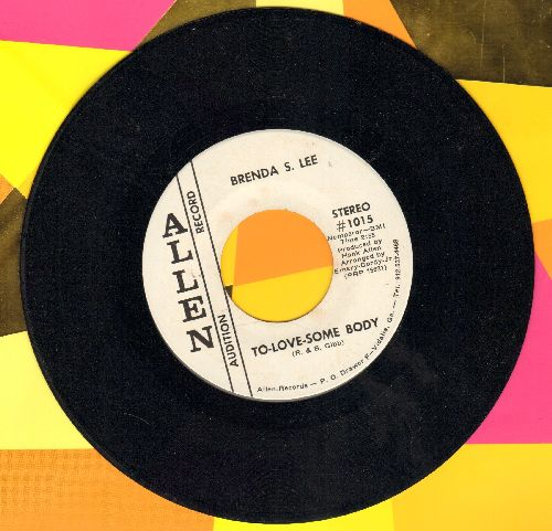 Lee, Brenda S. - To Love Somebody/I'll Walk The Sky (DJ advance pressing) - M10/ - 45 rpm Records