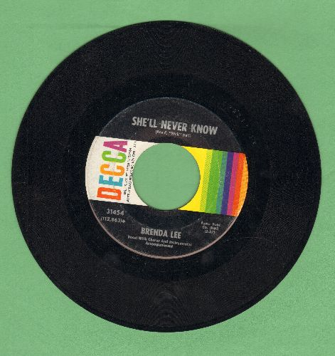 Lee, Brenda - She'll Never Know/Your Used To Be  - EX8/ - 45 rpm Records