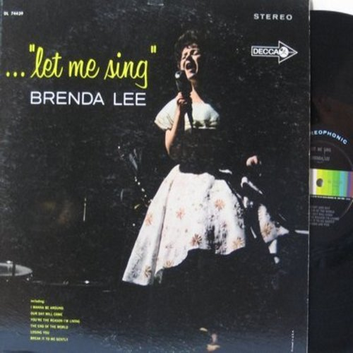 Lee, Brenda - Let Me Sing: At Last, Our Day Will Come, The End Of The World (vinyl STEREO LP record) - NM9/EX8 - LP Records