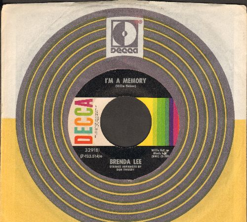 Lee, Brenda - I'm A Memory/Misty Memories (with vintage Decca company sleeve) - NM9/ - 45 rpm Records